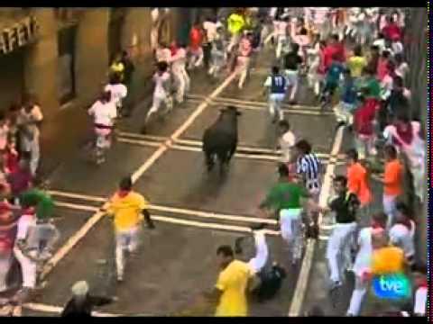 ULTIMO OCTAVO ENCIERRO 14 Julio SanFermines Pamplona 360p