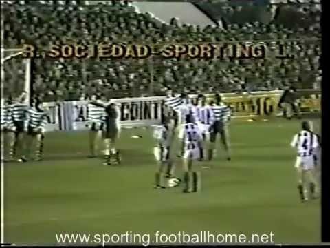 Real Sociedad - 2 Sporting - 0 de 1982/1983 2ª mão dos 1/4 Final Taça Campeões Europeus