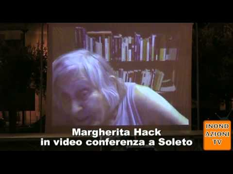 Margherita Hack in video conferenza a Soleto parte 2