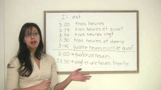 French for Beginners - How to Tell Time in French - YouTube