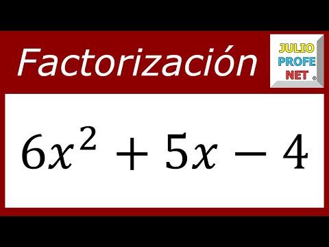 Factorización de un Trinomio de la forma ax^(2n) bx^n c