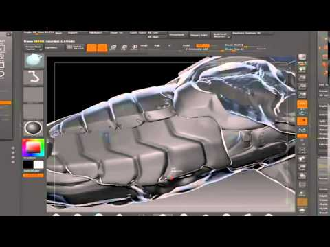 ZBrush Tutorial: Model a Robot Sci-fi Predator Part 2