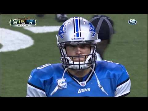 The Magic Of Charles Woodson(Thanksgiving Day Diving Flipping Pick) Matthew Stafford