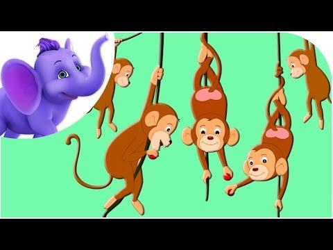 Five Little Monkeys Rhyme - Karaoke Version