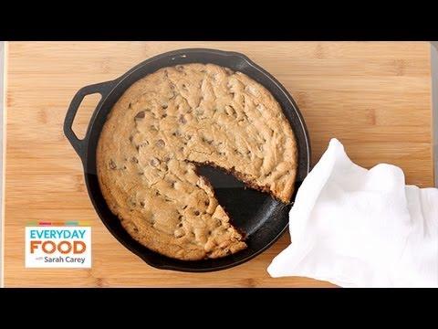 Skillet Chocolate Chip Cookie - Everyday Food with Sarah Carey