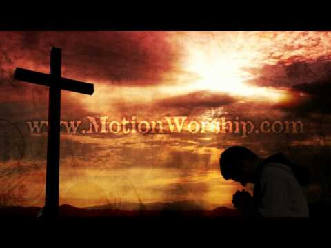 Kneeling Cross Sunset HD Worship Motion Background