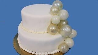 Cómo hacer pompas o burbujas de gelatina para decorar . Jelly bubles