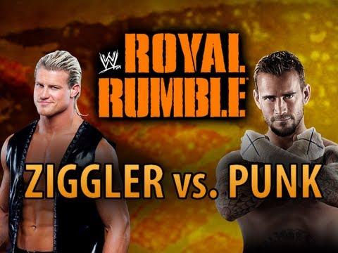 WWE 12 - CM Punk vs. Dolph Ziggler at Royal Rumble 2012 (WWE Machinima)