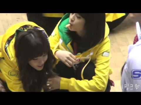 [fancam] t-ara jiyeon hyomin mbc