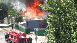 Пожар жилого дома в Житомире