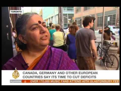 Vandana Shiva at G-20 in Toronto