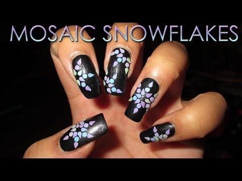 Let it Snow! ~ Mosaic Snowflakes by Colette