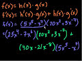 Фрагмент с средины видео - Product rule   Taking derivatives   Differential Calculus   Khan Academy