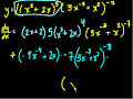 Фрагмент с конца видео - Product rule   Taking derivatives   Differential Calculus   Khan Academy
