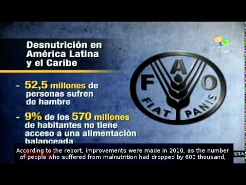 FAO shows drop in hunger in Latin America