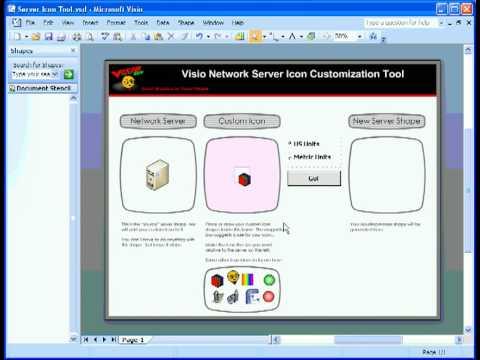 Visio Network Icon Customization Tool