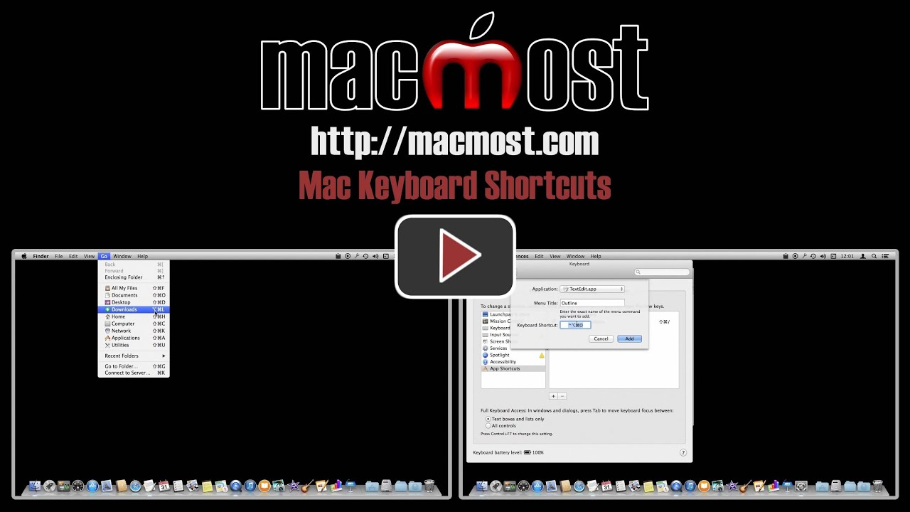how to change keyboard shortcuts on mac