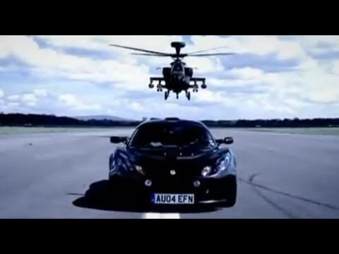 BBC: Lotus Exige Car Review with Apache Helicopter Gunship - Top Gear