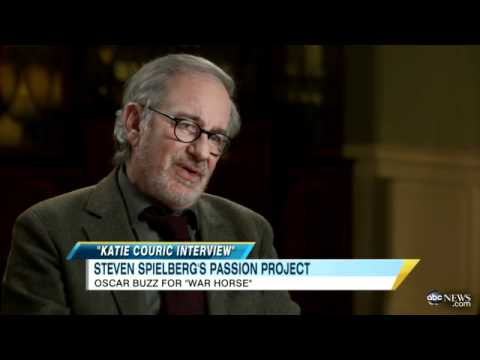 Katie Couric Interviews Steven Spielberg On His Return to Directing for 'War Horse'