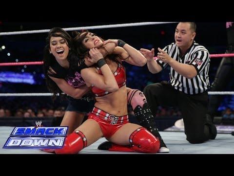 The Bella Twins & Natalya def. AJ Lee, Tamina & Alicia Fox : SmackDown, Nov. 1, 2013