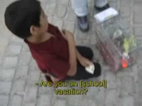 Poor Afghani Boy in Shiraz, Iran