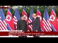 Фрагмент с начала видео A historic moment: Trump and Kim shake hands- BBC News
