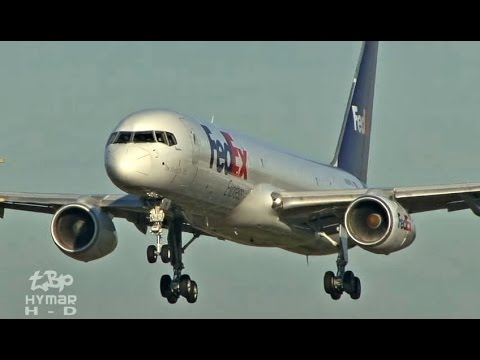Aborted Landing - FedEX Boeing 757 Go-Around London Luton Airport - 757 Awesome Power