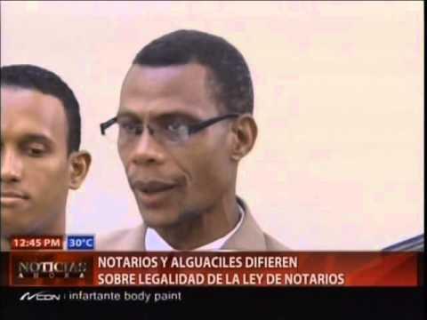 Notarios y alguaciles difieren sobre legalidad…