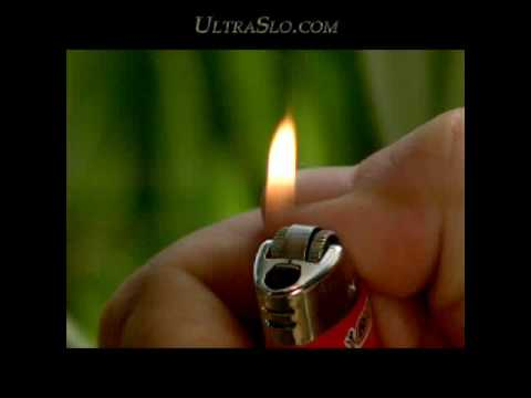 Lighter in slow motion