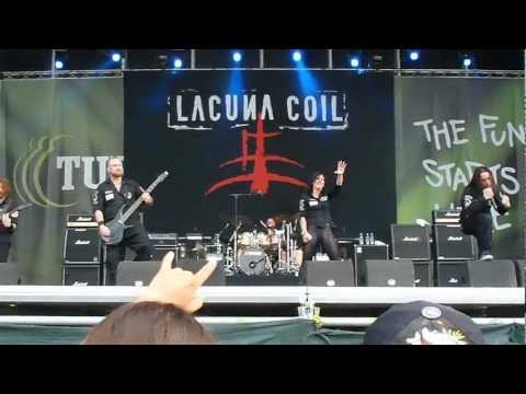 Lacuna Coil - Our Truth + Upside Down Live at Tuborg Greenfest 2012 in Bucharest, Romania