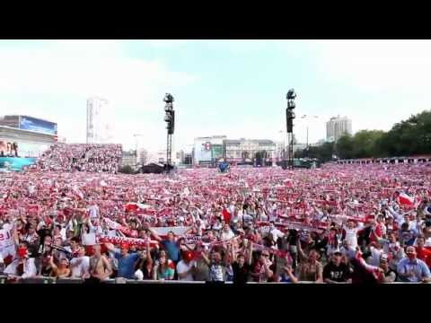 HD   Fan Zone Warsaw 2012. Strefa Kibica    100 000 people singing the Polish national anthem! !!!