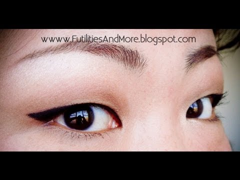 Winged Eyeliner for Asian Monolid And Red Lips Makeup Tutorial
