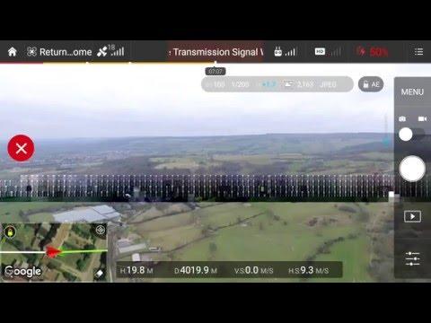 Dji phantom 3 professional max distance test 19100 feet 5.8 kilometres 3.6 miles with ARGtek ariel