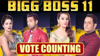 Bigg Boss 11 Live Vote Count, Shilpa, Hina, Vikas, Puneesh, Who will win?  FilmiBeat