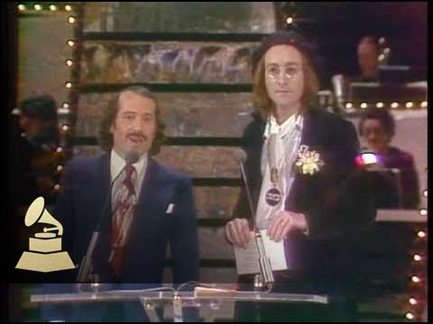 17th GRAMMYs: Paul Simon and John Lennon co-presenting the GRAMMY for Record Of The Year
