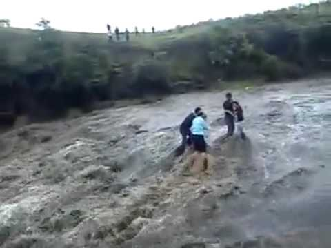 Real shocking video in water falls in India