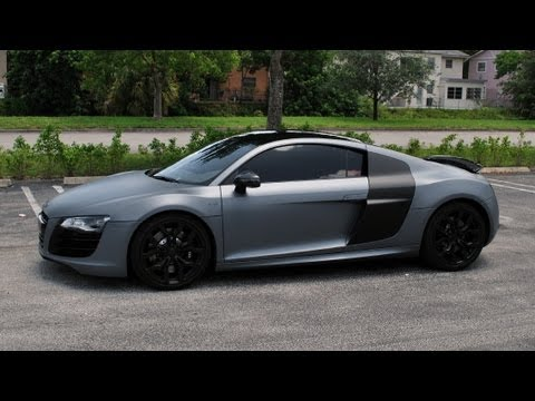 Matte Silver Plasti Dip Audi R8 V10