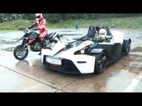 KTM X-Bow vs KTM Supermoto! - iMOTOR
