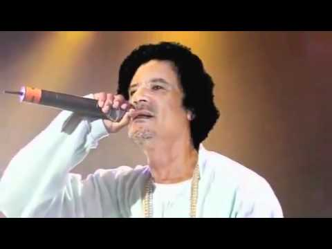 AL Qaddafi ft. lady gaga & justin bieber in his new song