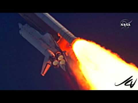 Last Space Shuttle Launch July 8 STS-135 Atlantis - music by DAVID BOWIE