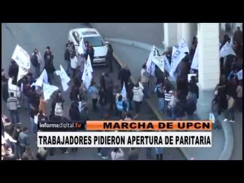 <b>UPCN march� a Casa Gris.</b> Calmo reclamo del gremio de Allende.