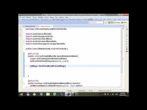 48 Android Revision SQL Database SQLite  Introduction to Big Example with All Operations ON DB