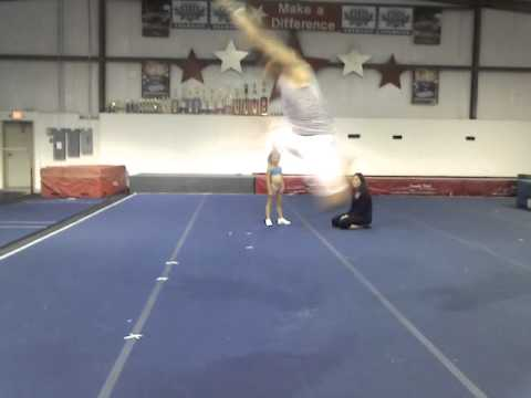 Double toe touch, front left, front right,  pike