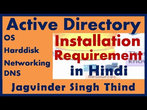Active Directory in server 2008 Part 16 Active Directory Requirements in Hindi JagvinderThind