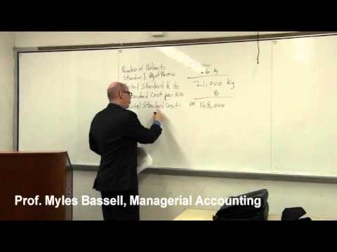 9 of 10 Managerial Accounting Basics - 9 Standard Costs and Variances