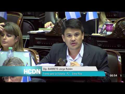 <b>Fondos buitre.</b> Discurso de Jorge Barreto