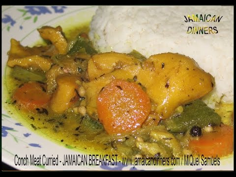 CURRIED CONCH MEAT recipe