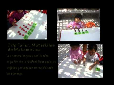 Materiales educativos con metodo montessori