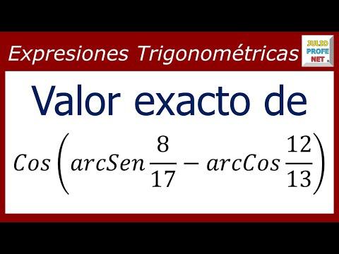 Valor exacto de una expresión trigonométrica sin usar calculadora