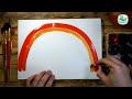 Фрагмент с начала видео - Как нарисовать РАДУГУ красками | Простые рисунки красками | Урок рисования для детей